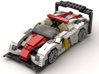 Le Mans prototype race car, an alternate model of set 31006