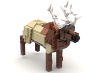 The elk from the zoo display in Hotel Legoland, Billund, 2014