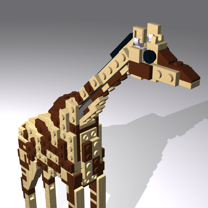 The giraffe from the zoo display in Hotel Legoland, Billund, 2014