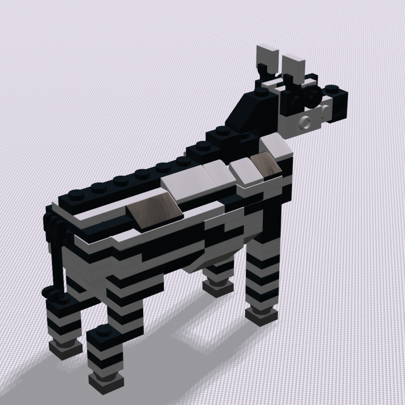 The zebra from the zoo display in Hotel Legoland, Billund, 2014